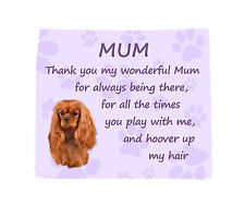 Cavalier King Charles Spaniel Mum Microfibre Cloth Fun Gift FROM THE DOG - RUBY