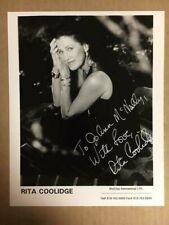 Rita Coolidge Boldly Signed 8x10 Photo with COA