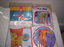 4 VINTAGE INFLATABLE AIRMATTRESS POOL FLOATS NEW !!!!