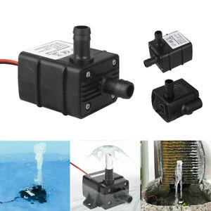 Mini Water Pump Quiet 12V 240L/H USB Brushless Motor Submersible Pool Water Pump