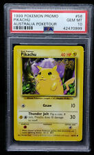 1999 Pokemon Game Promo 58 Pikachu Australia Poketour Card PSA Gem Mint 10 RARE