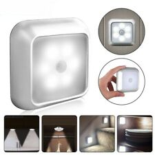 6 LED Night White Light Motion Sensor Wall Closet Cabinet Stair Wireless Lamp