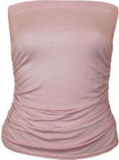 Tops de mujer de color principal rosa sin mangas