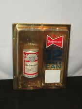 VINTAGE BUDWEISER BEER 12 OUNCE CAN SIGN 1960'S