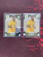 Neymar Jr Brasil rookie cards: 2014 Panini Prizm World Cup #112. 2X