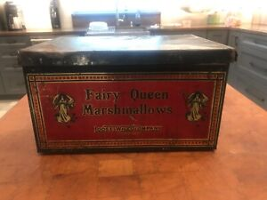 Vintage, original, collectible Fairy Queen Marshmallow food tin