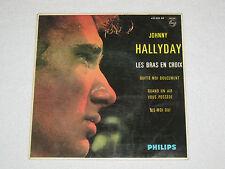 """JOHNNY HALLYDAY LES BRAS EN CROIX  ORIGINAL ÉDITION ESPAGNOL EP 7"""""""