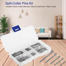 175 pcs/set 5 Kinds Split Cotter Pins Assortment Kits Hardware Fasteners Parts