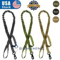 Heavy Duty Retractable Dog Leash Military Tactical K9 Adjustable Nylon Rope