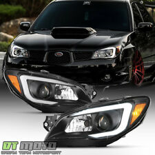 2006-2007 Subaru Impreza WRX LED DRL Light Tube Projector Headlights Left+Right