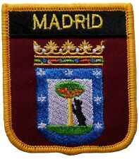 Madrid Spain Shield Embroidered Patch