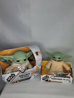 "Hasbro 7.5"" and 6"" Star Wars The Mandalorian Child Baby Yoda Toy lot of 2 NIB"