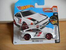 Hotwheels 1985 Honda CRX in White on Blister
