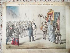 Political satire: 1884 Tom Merry print -  Parnell's Puppets