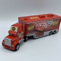 Disney Pixar Cars Lightning Mcqueen Mack Rust-Eze Truck Car Wash Hauler Playset