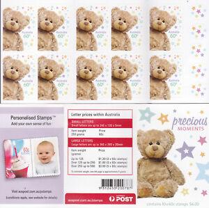 2012 Precious Moments (Teddy Bear) Stamp Booklet SB389 - Philatelic Barcode