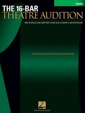 16-Bar Theatre Audition Tenor Tenor Edition Vocal Collection New 000740255