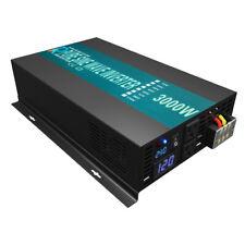 Power Inverter 3000W Pure Sine Wave 24V to 110V 120V 60Hz Car Truck Motorhome RV