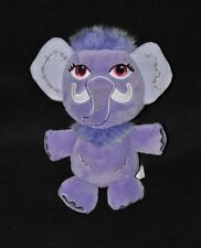 Peluche Doudou Beans Shiver Mammouth GIPSY Monster High Mauve Violet 20 cm NEUF