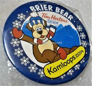 2014 BRIER CURLING TIM HORTONS KAMLOOPS B.C. CANADA Button Mint in Bag