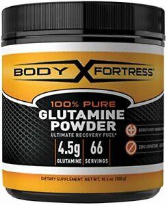 Body Fortress 100% Pure Glutamine Powder Supports Post Workout Recovery 10.6 oz
