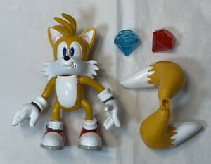 Vintage Sonic X Toy Island Miles Tails Prower Action Figure Chaos Emeralds 2005