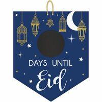 EID Mubarak Ramadan Kareem Party Mdf Chalkboard Countdown  Decoration Events