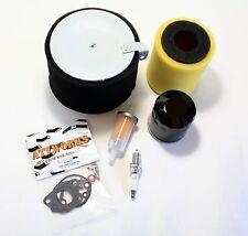 Kawasaki Mule 600 610 '08-'10 Tune Up Kit Oil Fuel 2 Air Filter Spark Plug Carb