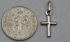 10K white gold small plain cross