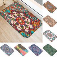 EE_ Lovely Flower Mandala Hallway Mat Entrance Floor Rug Anti-slip Bathroom Carp