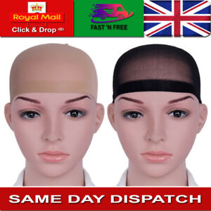 Wig Cap Nude Breathable Stocking Nylon Stretch Hair Liner Unisex Black & Beige