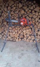 Metall Sägebock für Kettensäge Chainsaw Log Holder Sawhorse Chevalet a Buche