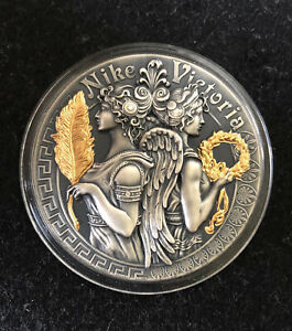 2018 VICTORIA & NIKE Goddess Strong and Beautiful Goddesses 2Oz Silver Coin 5$