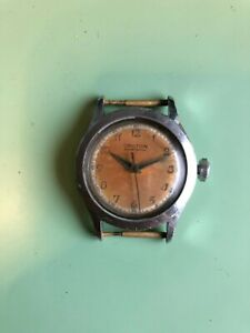Croton Sportsman vintage watch clamshell (Nivada/Grenchen) 1940-1949 serviced