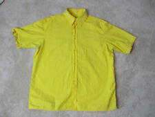 Moschino Jeans Button Up Shirt Adult Extra Large Yellow Casual Made Italy Mens
