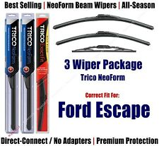 3-Pack Wipers Front & Rear - NeoForm - fit 2001-2003 Ford Escape - 16190x2/10-1