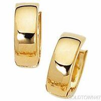 14k Yellow Gold Huggie Earring