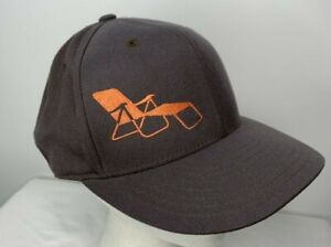 Mountain Bike RideSFO Hat 210 Fitted Brown Chase Lounge Chair Life 7 1/4 - 7 5/8