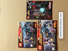 New Lego Instruction Manual ONLY Super Heroes X-Men vs. the Sentinel 76022