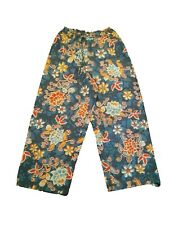 New Oilily Girl's Floral Blue Cotton Vintage Pants Size 152 US 12