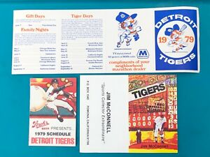 1979-1980 Detroit Tigers Schedules Collection Lot (4 ct.)