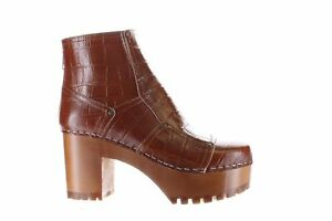 Swedish Hasbeens Womens Mikaela Brown Ankle Boots EUR 38 (2230563)
