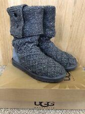 Botas Ugg Australia Damas Lattice Cardy en gris/carbón, Uk Size 5.5, En Caja