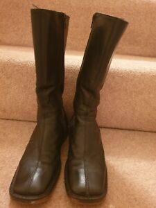 Black Leather boots size 3