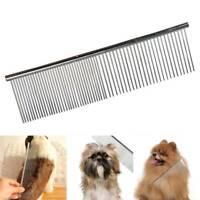 Pet Dog Cat Metal Double Row Combing Hair Comb Brush Fur Pet Metal Brush