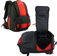"Professional Waterproof DSLR Camera Backpack Padded 15.6"" Laptop Bag +Rain Cover"