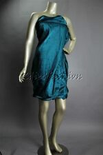 $2295 New with tags DONNA KARAN Electric Teal Sheen Strapless Dress 6