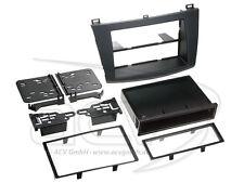 Doble 2-din autoradio diafragma radio diafragma con compartimento Mazda 3 ab2010 negro