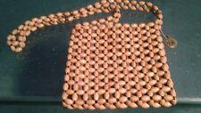 THE Sak vintage wooden beaded VEGAN small shoulder handbag