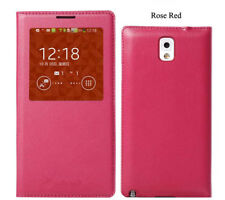 For Samsung Galaxy Note 3 Case, S View Flip Cover Folio Case Rose Red